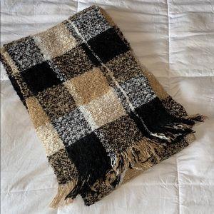 Abercrombie Plaid Patchwork Blanket Scarf